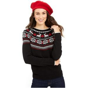 Charter Club Christmas Sweater Scandinavian Sz XS